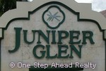 sign for Juniper Glen
