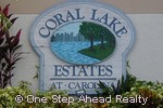 sign for Coral Lake Estates