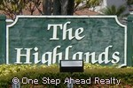 sign for The Highlands